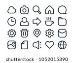 minimalist ui icon set