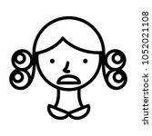 perm hair style illustration | Shutterstock .eps vector #1052021108