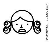 perm hair style illustration | Shutterstock .eps vector #1052021114
