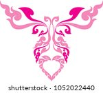 abstract swirl butterfly and... | Shutterstock .eps vector #1052022440
