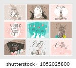 hand drawn vector abstract... | Shutterstock .eps vector #1052025800