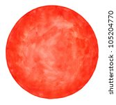 red round blank watercolor... | Shutterstock . vector #105204770