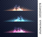 abstract magic flares. magic... | Shutterstock .eps vector #1052049278
