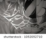 abstract black and white waves  ... | Shutterstock . vector #1052052710