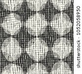 abstract monochrome bold dot... | Shutterstock .eps vector #1052058950