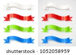 set of colour ribbon.... | Shutterstock .eps vector #1052058959