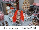 delicious cookies and candies... | Shutterstock . vector #1052063108