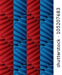 red and blue striped 3d... | Shutterstock .eps vector #105207683