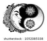 yin and yang symbol with... | Shutterstock .eps vector #1052085338