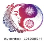 yin and yang symbol with... | Shutterstock .eps vector #1052085344