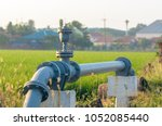 water supply pipeline to the... | Shutterstock . vector #1052085440