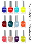 vector set of colorful nail... | Shutterstock .eps vector #1052086199