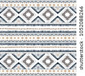 ethnic seamless in native style.... | Shutterstock .eps vector #1052088266