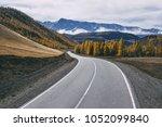 beautiful landscape autumn...   Shutterstock . vector #1052099840