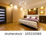 modern master bedroom interior... | Shutterstock . vector #105210383