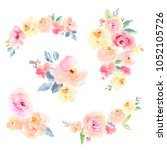 collection of hand painted... | Shutterstock . vector #1052105726