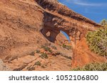 navajo arch in arches national... | Shutterstock . vector #1052106800