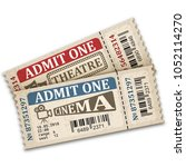 theater and cinema  tickets in... | Shutterstock .eps vector #1052114270