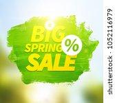 green hand paint artistic dry... | Shutterstock .eps vector #1052116979
