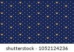 navy dark blue seamless pattern ... | Shutterstock .eps vector #1052124236