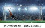 soccer game moment  on... | Shutterstock . vector #1052125883