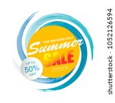summer sale template banner...
