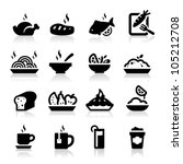 food and drink icons set... | Shutterstock .eps vector #105212708