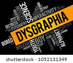 dysgraphia word cloud collage ... | Shutterstock .eps vector #1052131349