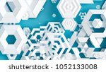detailed geometric background.... | Shutterstock . vector #1052133008