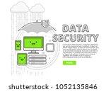vector illustration in line... | Shutterstock .eps vector #1052135846