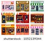 shop window vector showwindow... | Shutterstock .eps vector #1052139344