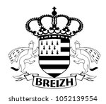 made in brittany  produit en... | Shutterstock .eps vector #1052139554