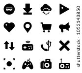 solid vector icon set   bus... | Shutterstock .eps vector #1052143850