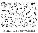 set of black arrows.vector... | Shutterstock .eps vector #1052144078