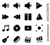 solid vector icon set   volume... | Shutterstock .eps vector #1052150078