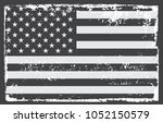 grunge usa flag.vintage... | Shutterstock .eps vector #1052150579