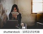 portrait beautiful asian drug... | Shutterstock . vector #1052151938