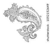 paisley. ethnic ornament.... | Shutterstock .eps vector #1052152649
