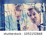 group of young business people... | Shutterstock . vector #1052152868