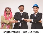 business team construction... | Shutterstock . vector #1052154089