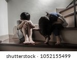 family violence and aggression... | Shutterstock . vector #1052155499