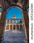 the archiginnasio atrium. it... | Shutterstock . vector #1052162084