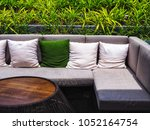 a sofa set is located in the... | Shutterstock . vector #1052164754
