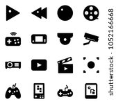 solid vector icon set   play... | Shutterstock .eps vector #1052166668