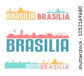 brasilia brazil flat icon...   Shutterstock .eps vector #1052169680