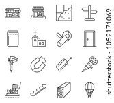 thin line icon set   office... | Shutterstock .eps vector #1052171069