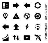 solid vector icon set  ... | Shutterstock .eps vector #1052171804