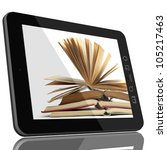 book and teblet computer 3d... | Shutterstock . vector #105217463