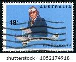 australia   circa 1978  post...   Shutterstock . vector #1052174918