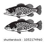 the figure shows a bass fish | Shutterstock .eps vector #1052174960